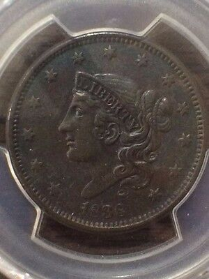 1838 PCGS XF DETAILS  Large Cent Coin 1c