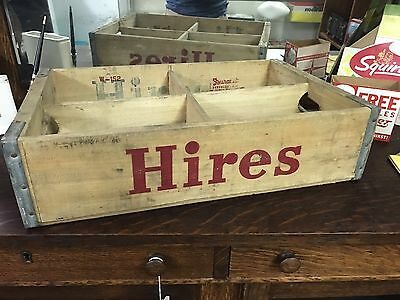 Vintage Original HIRES Soda Wood Carrying Crate Case