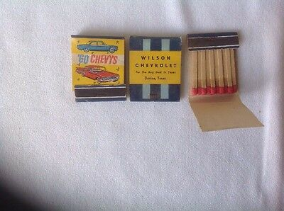 CHEVROLET DEALERSHIP ADVERTISING VINTAGE MATCH BOOKS LOT OF 3. 60s CHEVY