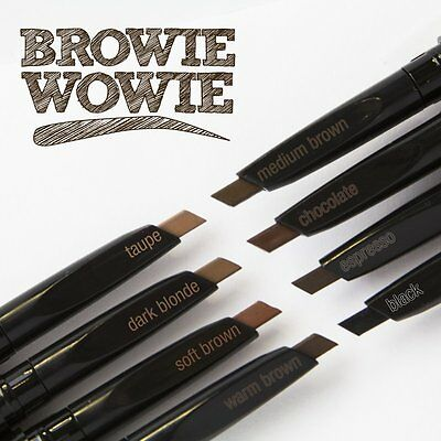 L.A. LA Colors Browie Wowie Brow Pencil with Brush 8 Shades Eyebrow Color