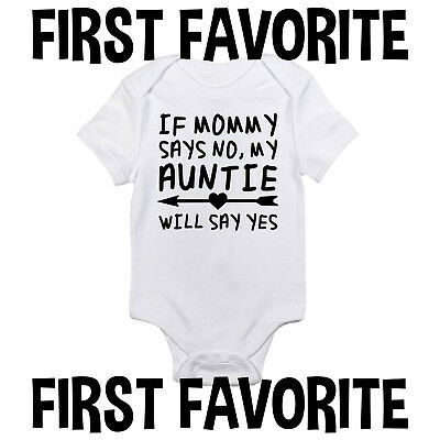 Aunt Say Yes Baby Onesie Bodysuit Shirt Shower Gift Infant Clothes Unisex Gerber