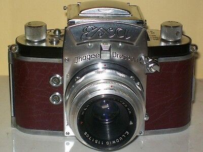 Exa Ihagee camera with lens  Has new leather covering  Working camera