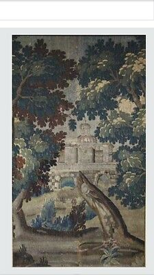 ANTIQUE TAPESTRY AUBUSSON VERDURE 18th century 5.6  High 3.44 Feet Wide