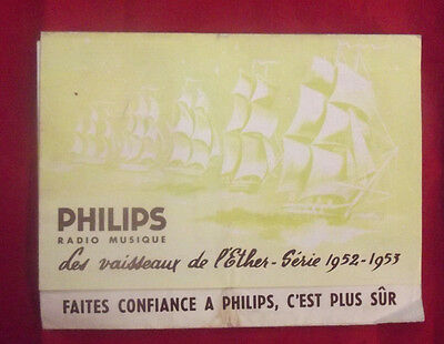 catalogue PHILIPS serie 1952 1953