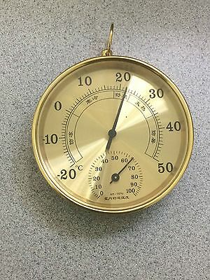 100mm  Accurate Temperature Humidity Meter Hygrometer Thermometer gold or silver