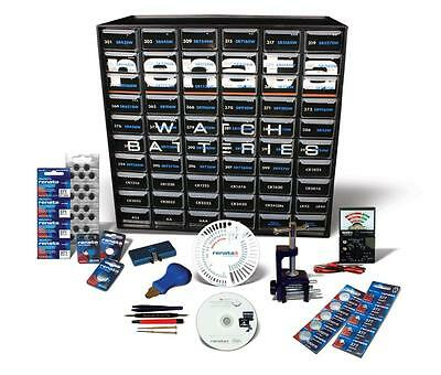 Renata Deluxe Battery Starter Kit with Organizer, Tools and Instructional CD