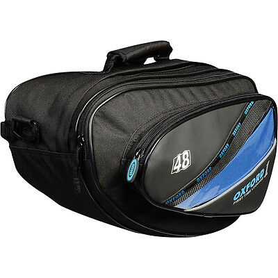 Oxford NEW OL434 1st Time 48L Expandable Sport Motorcycle Road Bike Panniers