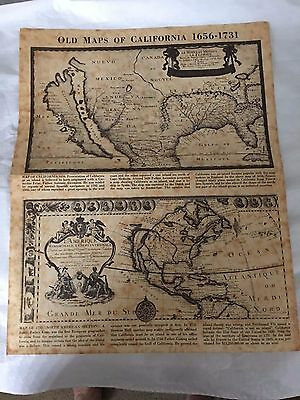 "Vintage Reproduction ""Old Maps of California 1656-1731"""