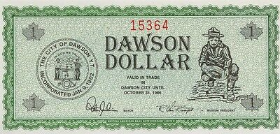 Scarce Local Community Dawson Dollars Scrip