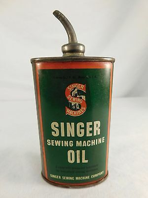 Vintage Singer Sewing Machine Motor Oil Can With Spout 3 Oz Usa Featherweight