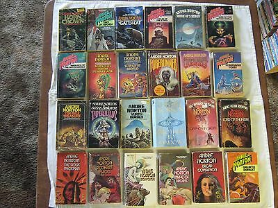 Andre Norton Paperback Books Lot Of 24 Sci Fi Science Fiction Vintage
