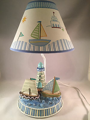 Nautical Sail Boats Lighthouse Table Lamp With Shade From 2004