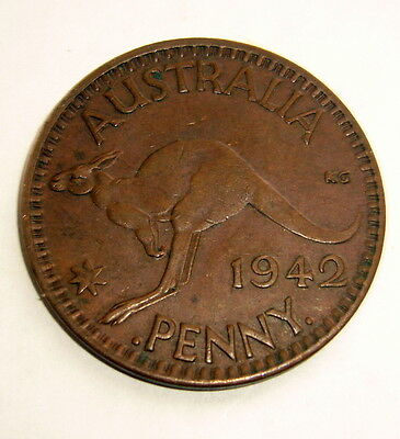 1942 Australia One Penny Coin     2 available