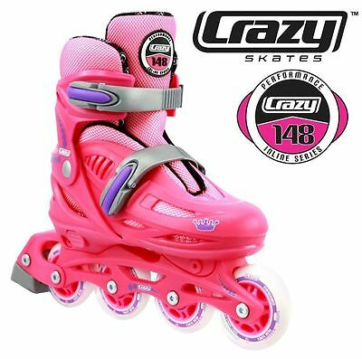 Crazy 148 PINK Adjustable Roller Blades $79