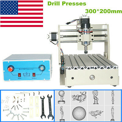 3 Axis Engraver Cnc2015T Router Engraving Drilling Milling 3D Cutter Desktop Usa
