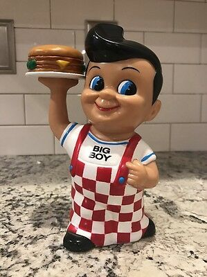 Bob's Big Boy Restaurant Vinyl Coin Bank Figure W/ Hamburger Funko 1999