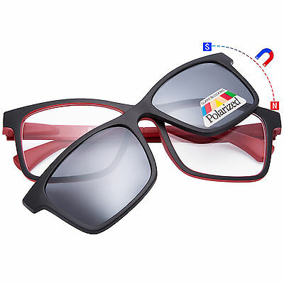 Polarized Magnetic Clip on Sunglasses Readers Unisex Cover Reading Glasses
