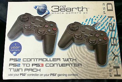 PS2 Controller with PS2 to PS3 Converter, Twin Pack