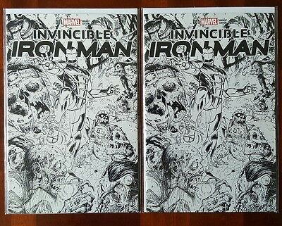 Two copies of Invincible Iron Man #1 (2015) NYCC Variant Tony Moore