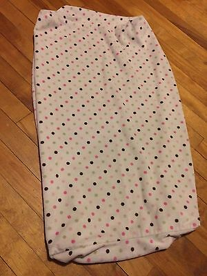 Diaper Changing Pad Cover Soft Minky Dots Pink/Green/Brown carters