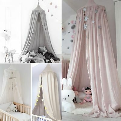 Canopy Bed Netting Mosquito Bedding Net Baby Kids Reading Play Tents Cotton -AU