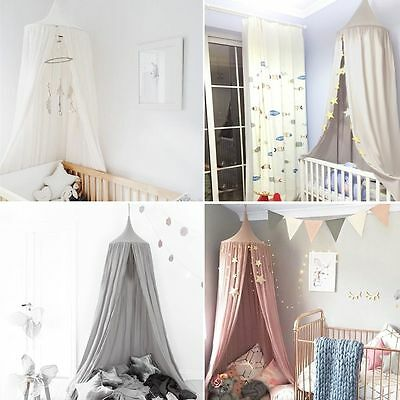 Cotton Canopy Bed Netting Mosquito Bedding Net For Baby Kids Reading Play Tents