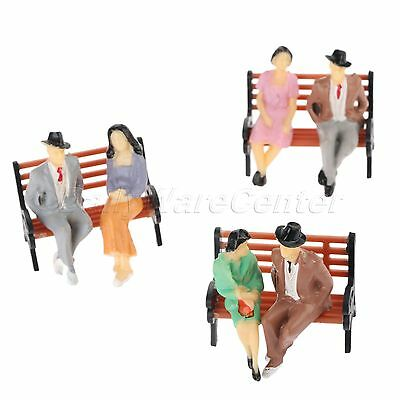 Model People Figures Sitting Miniature Scenery Layout 1:100 Scale Painted 100pcs