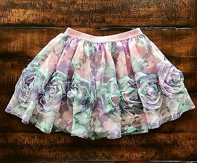 Euc The Children's Place Floral Print Skirt,Girls Size Small 5/6 Worn Once!!!