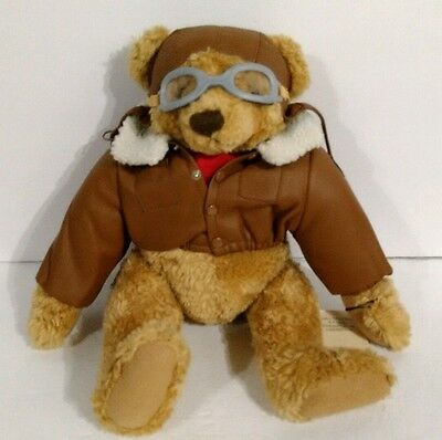 Texaco's Flying Pioneer Posable Bear Plush Stuffed Animal 2nd Edition 1998 Ace