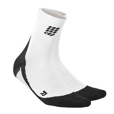 CEP Compression Women's Dynamic+ Short Socks White/Black I Australian Retailer