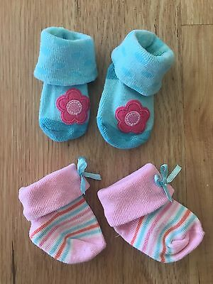 Carter's Baby Girl Socks Size NB BNWOT