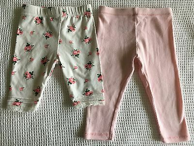 Baby Girl Country Road pants/leggings size 6-12 mnths Target 3/4 pants size 00
