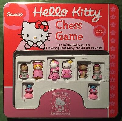 Hello Kitty 30th Anniversary Chess Game In a Deluxe Collector Tin By Sanrio