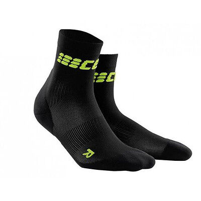 CEP Compression Women's Dynamic+ Run Ultralight Short Socks Black/Green