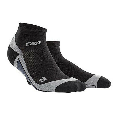 CEP Compression Women's Dynamic+ Run Low-Cut Socks Black/Grey
