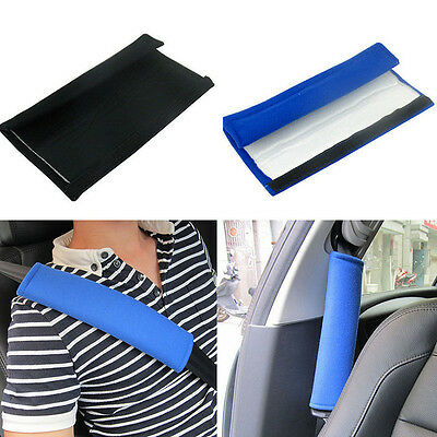 1 Pair Adult Car Safety Seat Belt Harness Pad Cover Cushion Pillow Shoulder Pads