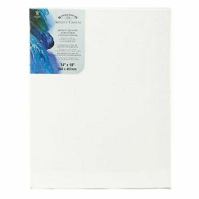 Winsor Newton 14-Inch by 18-Inch Artists Quality Stretched Canvas, White