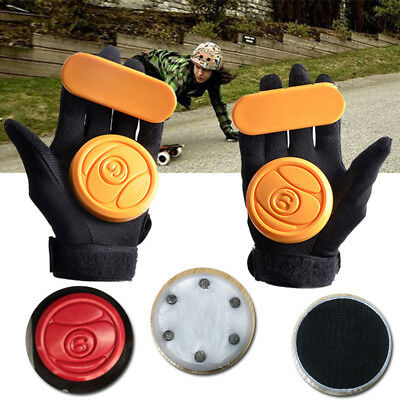 2pcs Skateboard/Longboard Sliding Gloves Replacement Protection Palm Pucks