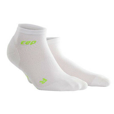 CEP Compression Women's Dynamic+ Run Ultralight Low-Cut Socks White/Green