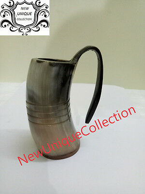 Beautiful Viking Drinking Horn Cup Glass Ale Beer Christmas Decorative Wine Mead