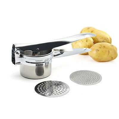 Stainless Steel Mash Potato Ricer Masher Fruit Press Baby Food Tools DI O