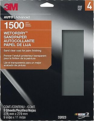 3M Imperial Wetordry Sheet, 9-Inch x 11-Inch, 1500 Grit , (32023)