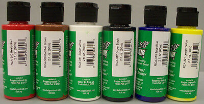 BADGER AIRBRUSH RC Air Lexan 6 colour PRIMARY airbrush paint set