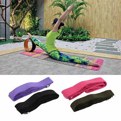 Yoga Stretch Strap D-Ring Belt Figure Waist Leg Fitness Exercise Gym ZJUS
