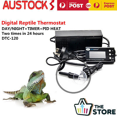Dimming Reptile Digital Day & Night Thermostat with Timmer Heat PID DTC-120