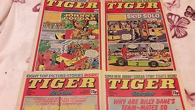 TIGER AND SCORCHER COMIC x 4, 1980, 12p. IPC MAGAZINES LTD.
