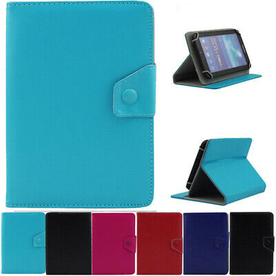 "Universal Leather Folding Stand Folio Case Cover For All 7"" Tablets Android MID"