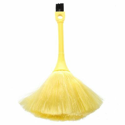 Yellow Dual Heads Telephone Keyboards Ash Dust Removing Brush BF