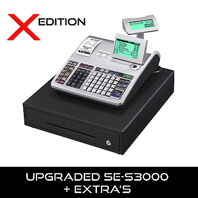 Casio Se-S3000 X Edition - New Upgraded Se-S3000 Cash Register Free Delivery