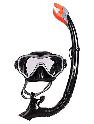 Snorkel Diving for Swimmers Tempered Glass Lens No Leaking Goggles Anti-fog S...